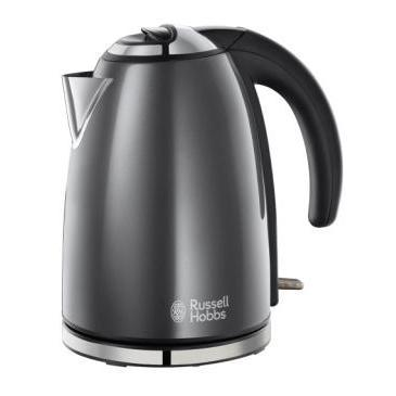 Russell Hobbs 18944 Pf Colours Grey Stainless Steel 1.7ltr Jug Kettle
