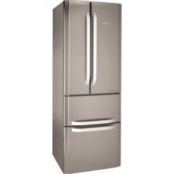 Hotpoint FFU4DX Quadrio 70cm Wide Frost Free Freestanding Fridge Freezer Stainless Steel