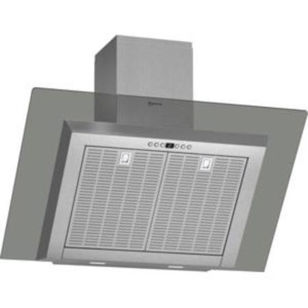 GRADE A3  - Neff D39GL64N0B Angled 90cm Chimney Cooker Hood With Grey Glass Canopy Stainless steel