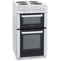 GRADE A1 - ElectriQ 50cm Electric Twin Cavity Cooker With Solid Hotplate - White