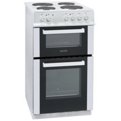 GRADE A2 - Light cosmetic damage - ElectriQ 50cm Electric Twin Cavity Cooker With Solid Hotplate - White