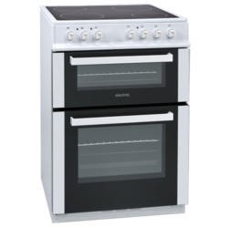 GRADE A1 - ElectriQ 60cm Electric Twin Cavity Cooker With Ceramic Hob - White