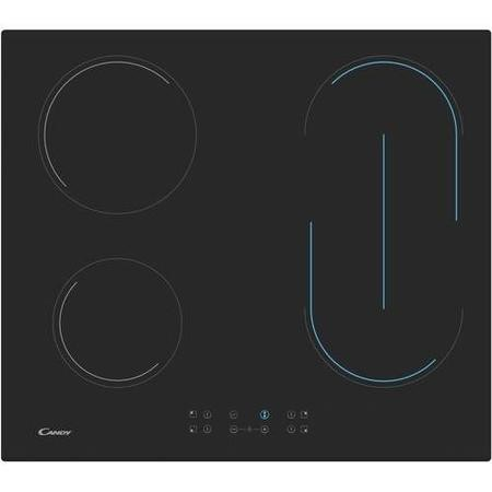 Refurbished Candy Appliances CH64BVT 59cm 4 Zone Vitroceramic Electric Hob
