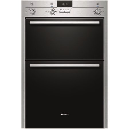 SIEMENS Display iQ100 Fanned Electric Built-in Double Oven - Stainless Steel