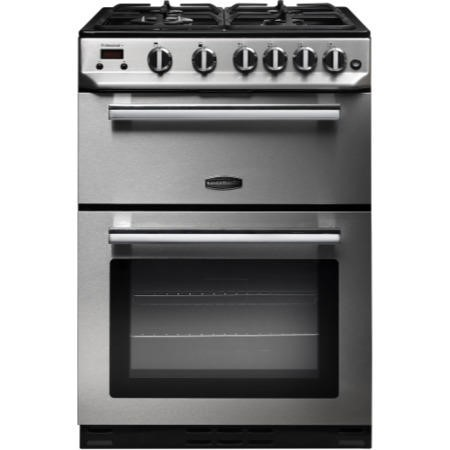 Rangemaster 10728 Professional+ 60cm Double Oven Gas Cooker Stainless Steel And Chrome