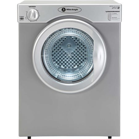 White Knight C38AS 3kg Compact Vented Tumble Dryer Silver