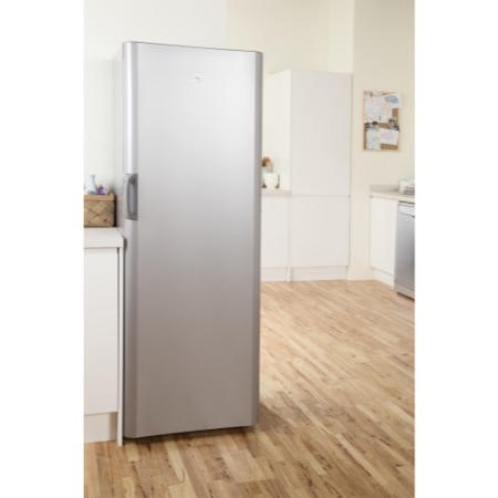 GRADE A2 - Indesit SIAA12S 175x60cm Freestanding Fridge In Silver