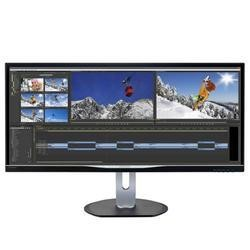 "Philips BDM3470UP LED 3440 x 1440 QHD AH-IPS HDMI DVI DisplayPort VGA speakers 34"" Monitor"