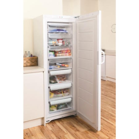 Indesit UIAA12 1.75m Tall Freestanding Freezer - White
