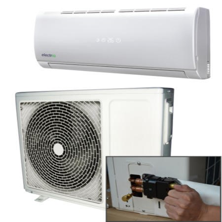 electriQ 9000 BTU Panasonic Powered Quick Connector Smart Wall Mounted Split Air Conditioner with Heat Pump 4 meter