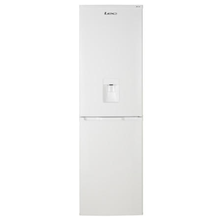GRADE A2  - LEC 444443520 55cm Wide Frost Free Fridge Freezer With Water Dispenser White