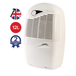 EBAC 2250E 12L Dehumidifier Smart Humidistat up to 3 bedroom homes with 2 year warranty