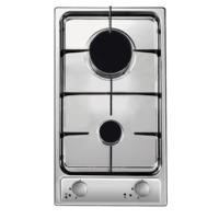 Candy CDG32/1SPX 29cm Two Burner Domino Gas Hob Stainless Steel