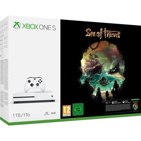Xbox One S 1TB Console with Sea of Thieves - White
