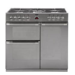 Stoves Sterling 900DFT 90cm Dual Fuel Range Cooker - Stainless Steel