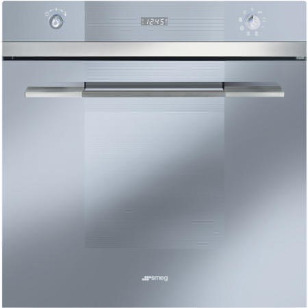 GRADE A2 - Light cosmetic damage - Smeg SF109S Linea Silver Multifunction  Electric Built In Single Maxi Oven