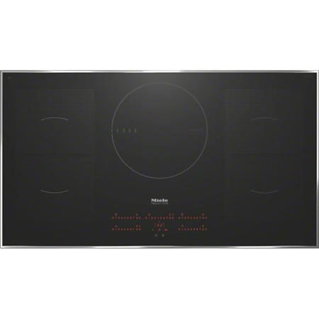 GRADE A2  - Miele KM6388 KM6386 942 mm Wide Touch Control Five Zone Induction Hob Black With Stainle