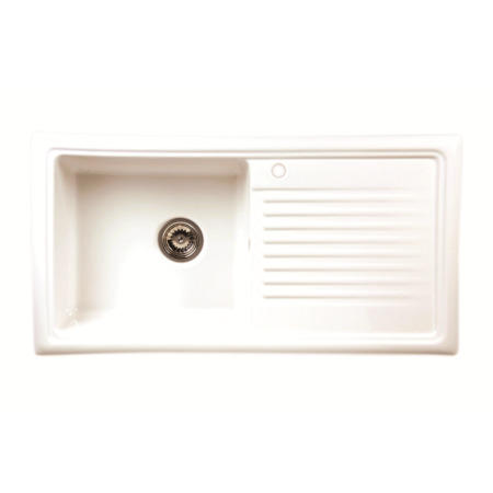 Reginox RL304CW 1.0 Bowl Reversible Inset Ceramic Kitchen Sink White ...