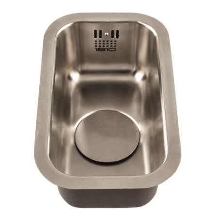 1810 Sink Company EU/17/U/MS/034 ETROUNO 170U  0.5 Bowl Undermount Stainless Steel Sink