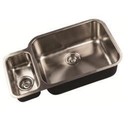 1810 Sink Company ED/7845/U/MS BBL/101 ETRODUO 781/450 BBR 1.5 Bowl Undermount Stainless Steel Sink Left Hand Small Bowl