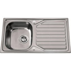 1810 Sink Company VU/86/I/REV/047 VELOREUNO 860i 1.0 Bowl Inset Stainless Steel Sink Reversible Drainer