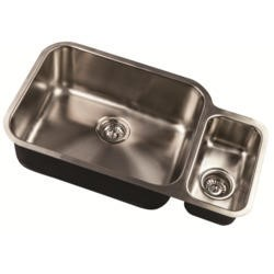 1810 Sink Company ED/7845/U/MS/ BBL/100 ETRODUO 781/450 BBL 1.5 Bowl Undermount Stainless Steel Sink Right Hand Small Bowl