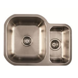 1810 Sink Company ED/5845/U/MS BBL/032 ETRODUO 589/450U BBL 1.5 Bowl Undermount Stainless Steel Sink Right Hand Small Bow