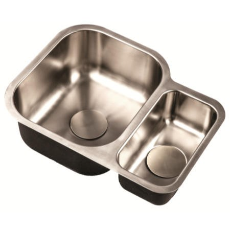 1810 Sink Company ED/5845/U/MS BBL/032 ETRODUO 589/450U BBL 1.5 Bowl Undermount Stainless Steel Sink Right Hand Small Bowl