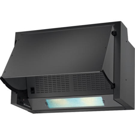 GRADE A2 - Light cosmetic damage - Candy CBP612/1N 60cm Integrated Cooker Hood Black