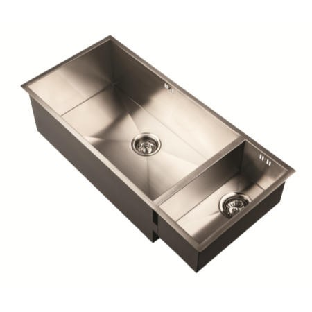 1810 Sink Company ZU/5/IF/S/BBR/026 ZENUNO 5I-F  1.0 Bowl Inset Stainless Steel Sink Left Hand Drainer