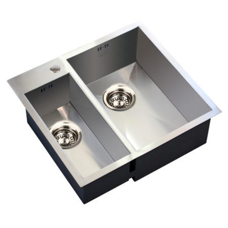 1810 Sink Company ZD/1831/IF/S/BBR/005 ZENDUO 180/310 I-F Bbr 1.5 Bowl Undermount Stainless Steel Sink Right Hand Small B