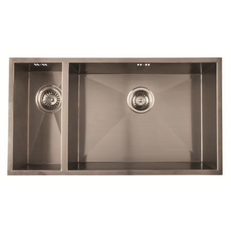 1810 Sink Company ZD/1855/U/S/BBR/029 ZENDUO 180/550U 1.5 Bowl Inset Stainless Steel Sink Left Hand Small Bowl