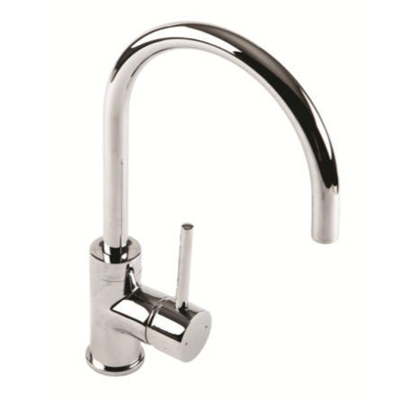 1810 Sink Company Courbe Curved Spout Single Lever Aerated Mixer Tap Chrome