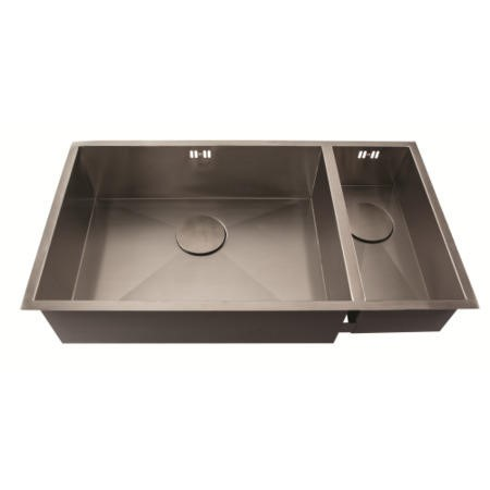 1810 Sink Company ZD/5518/U/S/BBL/028 ZENDUO 550/180U 1.5 Bowl Inset Stainless Steel Sink Right Hand Small Bowl
