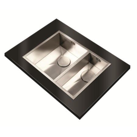 1810 Sink Company ZD/3418/U/S/BBL/022 ZENDUO 340/180U  1.5 Bowl Inset Stainless Steel Sink Right Hand Small Bowl