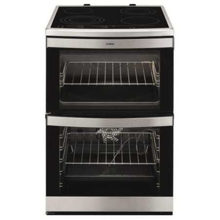 GRADE A2  - AEG 49176V-MN COMPETENCE 60cm Electric Cooker in Stainless steel