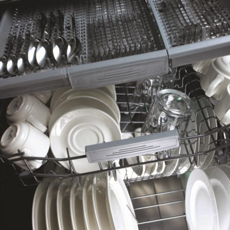 CDA WC600 Intelligent 15 Place Fully Integrated Dishwasher With Cutlery Drawer