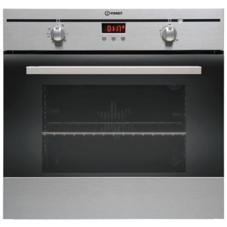GRADE A2 - Light cosmetic damage - Indesit FIM33KAIX Fanned Electric Built In Single Oven With Programmable Timer In Stainless Steel