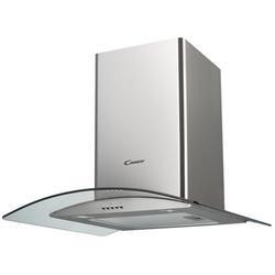 Candy CGM61/1X 60cm Stainless Steel Chimney Hood With Curved Glass Canopy