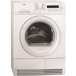 GRADE A2 - Light cosmetic damage - AEG T76485AH SensiDry 7 Series Freestanding Condenser Tumble Dryer - White