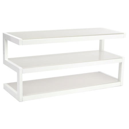 Norstone Esse White and Frost TV Stand - Up to 50 Inch