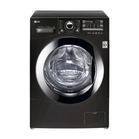 lg f14a8yd6 direct drive 8kg wash 6kg dry freestanding washer dryer black appliances direct. Black Bedroom Furniture Sets. Home Design Ideas