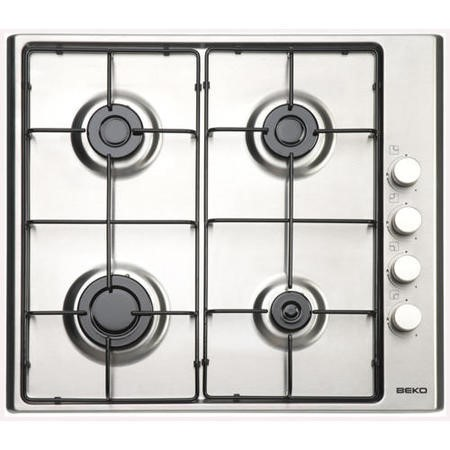 Beko HIZG64120SX 58cm Wide Four Burner Gas Hob Stainless Steel
