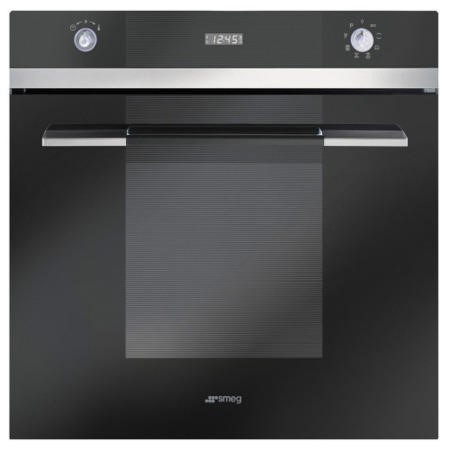 Smeg SFP109N Linea Pyrolytic Multifunction Maxi Plus Electric Built-in Single Oven - Black