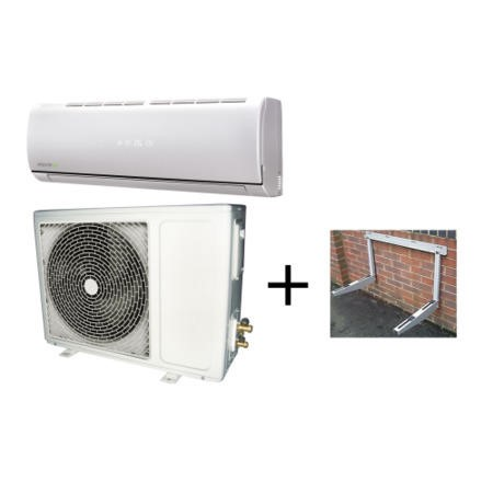 ElectrIQ 12000 BTU Easy Fit Inverter Wall Split Air Conditioner and Condenser Wall Mounting Bracket Bundle