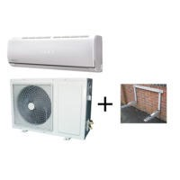 ElectrIQ 18000 BTU Easy Fit Inverter Wall Split Air Conditioner and Condenser Wall Mounting Bracket Bundle