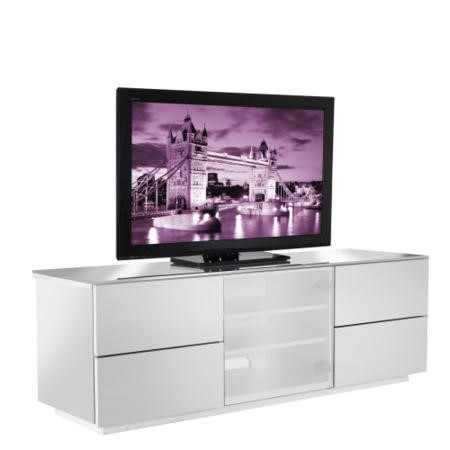 UKCF London Gloss White TV Cabinet - Up to 60 Inch