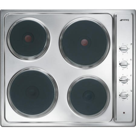 Smeg SE435S Cucina 60cm Wide Four Zone Sealed Plate Hob - Stainless Steel