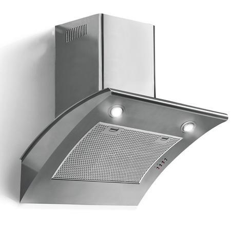 baumatic btc675ss curved angled 60cm chimney cooker hood. Black Bedroom Furniture Sets. Home Design Ideas