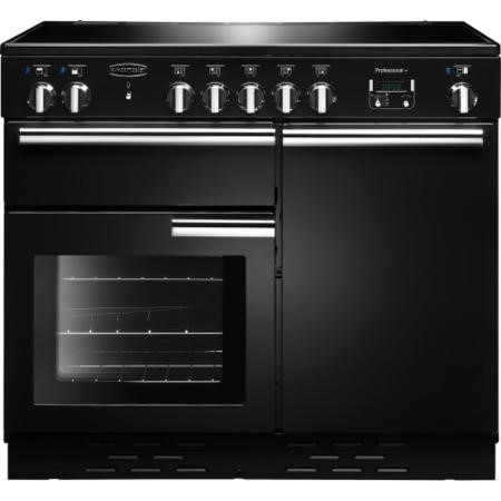 Rangemaster 96030 Professional Plus 100cm Electric Range Cooker With Induction Hob - Black